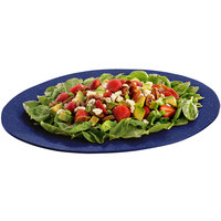 Tablecraft CW12025BS 19 inch x 15 inch Blue Speckle Cast Aluminum Wide Rim Oval Display Platter
