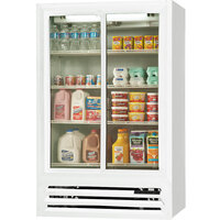 Beverage Air LV17-1-W-LED White Lumavue Refrigerated Sliding Glass Door Merchandiser - 17.5 Cu. Ft.