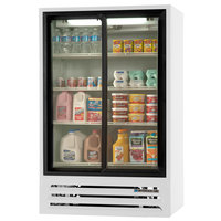 Beverage-Air LV17HC-1-W 36 inch White Lumavue Refrigerated Sliding Glass Door Merchandiser