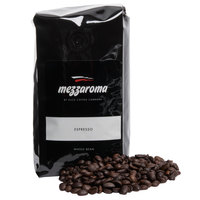 Mezzaroma Dark Regular Whole Bean Espresso 12 oz. Bag - 6/Case
