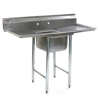 Eagle Group 412-16-1-24 One 16 inch Bowl Stainless Steel Commercial Compartment Sink with Two 24 inch Drainboards