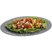 Tablecraft CW12025GR 19 inch x 15 inch Granite Cast Aluminum Wide Rim Oval Display Platter