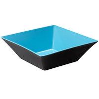 GET ML-248-BL/BK Brasilia 5.7 Qt. Blue and Black Square Melamine Bowl - 3/Case