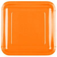 Creative Converting 463282 9 inch Sunkissed Orange Square Paper Plate - 180/Case