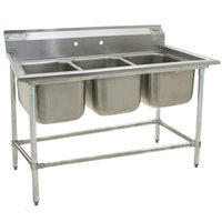 Eagle Group 412-16-3 Three 16 inch Bowl Stainless Steel Commercial Compartment Sink