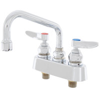 T&S B-1100 Deck Mounted Workboard Faucet with 3 1/2 inch Centers - 6 inch Swing Nozzle
