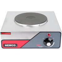 Nemco 6310-1 Electric Countertop Hot Plate with 1 Solid Burner - 120V