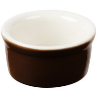 Greenware by Tuxton B1X-035 3.5 oz. Caramel / Ivory (American White) Smooth China Ramekin - 48/Case