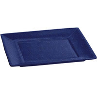 Tablecraft CW3600BS 10 inch x 10 inch x 7/8 inch Blue Speckle Cast Aluminum Square Platter