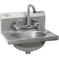 Eagle Group HSA-10-8F-MG MicroGard Hand Sink with 8 inch Center Holes and Basket Drain