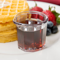 2 oz. Clear SAN Plastic Creamer / Syrup Cup   - 24/Case