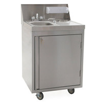 Eagle Group PHS-S-H Hot and Cold Water Portable Sink with Stainless Steel Bowl