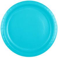 Creative Converting 501039B 10 inch Bermuda Blue Paper Banquet Plate - 240/Case