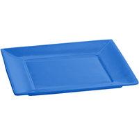 Tablecraft CW3600CBL 10 inch x 10 inch x 7/8 inch Cobalt Blue Cast Aluminum Square Platter