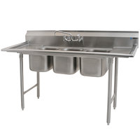 Eagle Group 310-10-3-12 Three Compartment Stainless Steel Commercial Sink with Two Drainboards - 60 inch