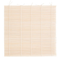 9 1/2 inch x 9 1/2 inch Rounded Bamboo Sushi Rolling Mat