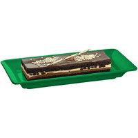 Tablecraft CW2100GN Green 18 inch x 9 inch Cast Aluminum Small Rectangle Platter