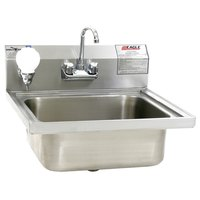 Eagle Group W1916FA Stainless Steel Wall Mount Hand Sink with Splash Mount Faucet