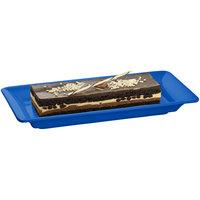 Tablecraft CW2100CBL Blue 18 inch x 9 inch Cast Aluminum Small Rectangle Platter