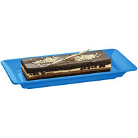 Tablecraft CW2100SBL Sky Blue 18 inch x 9 inch Cast Aluminum Small Rectangle Platter