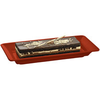 Tablecraft CW2100CP Copper 18 inch x 9 inch Cast Aluminum Small Rectangle Platter