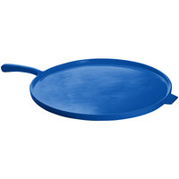 Tablecraft CW4110CBL Blue 14 inch Cast Aluminum Pizza Tray with Handle