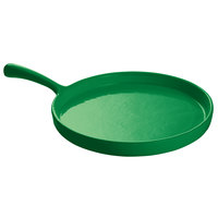 Tablecraft CW4140GN Green 7 inch Cast Aluminum Pizza Tray with Handle
