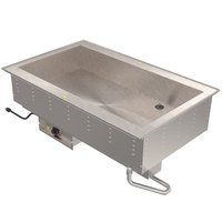 Vollrath 36500 Modular Drop In Two Compartment Bain Marie Hot Food Well - 120V, 1250W