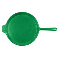 Tablecraft CW4130GN Green 10 inch Cast Aluminum Pizza Tray with Handle