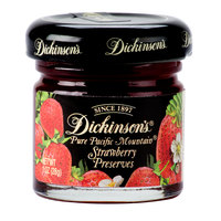 Dickinson's 1 oz. Pure Pacific Mountain Strawberry Preserves - 72/Case