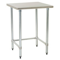 Eagle Group T3036STEB 30 inch x 36 inch Open Base Stainless Steel Commercial Work Table