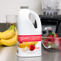 Torani 64 oz. Strawberry Banana Fruit Smoothie Mix