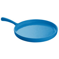 Tablecraft CW4140SBL Sky Blue 7 inch Cast Aluminum Pizza Tray with Handle
