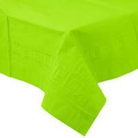 Creative Converting 713123 54 inch x 108 inch Fresh Lime Green Tissue / Poly Table Cover - 6/Case