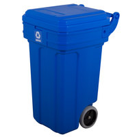 Continental 5850-1 Tilt-N-Wheel 50 Gallon Recycling Container