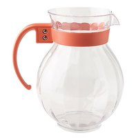 GET P-4091 90 oz. Tahiti Clear Plastic Pitcher with Rio Orange Handle