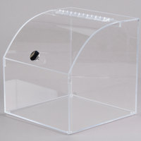 Cal-Mil 945 12 1/2 inch Square Curved Top Acrylic Display Case