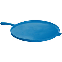 Tablecraft CW4100SBL Sky Blue 16 inch Cast Aluminum Pizza Tray with Handle