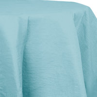 Creative Converting 923882 82 inch Pastel Blue OctyRound Tissue / Poly Table Cover - 12/Case