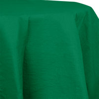 Creative Converting 923261 82 inch Emerald Green OctyRound Tissue / Poly Table Cover - 12/Case