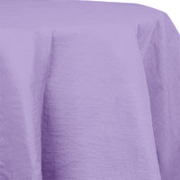 Creative Converting 923265 82 inch Luscious Lavender Purple OctyRound Tissue / Poly Table Cover - 12/Case