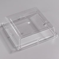 Carlisle 44400C07 Palette Designer Displayware Cover for 12 inch Wide Rim Square Plate - 12/Case