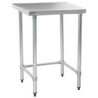 Eagle Group T2424STEM 24 inch x 24 inch Open Base Stainless Steel Commercial Work Table