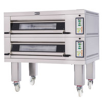 Doyon 2T2 Artisan 2 Stone 37 1/2 inch Deck Oven - 4 Pan Capacity, 240V, 3 Phase
