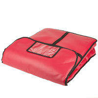 American Metalcraft PB2000 20 inch x 20 inch x 4 inch Standard Insulated Red Pizza Delivery Bag