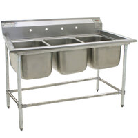 Eagle Group 414-22-3 Three 22 inch Bowl Stainless Steel Commercial Compartment Sink