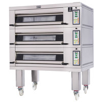 Doyon 2T3 Artisan 3 Stone 37 1/2 inch Deck Oven - 6 Pan Capacity, 240V, 3 Phase