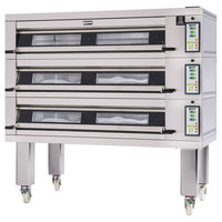 Doyon 3T3 Artisan 3 Stone 56 inch Deck Oven - 9 Pan Capacity, 240V, 3 Phase