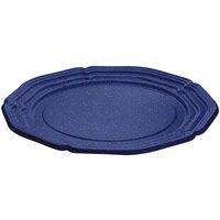 Tablecraft CW6120BS Blue Speckle 21 inch Cast Aluminum Queen Anne Round Platter
