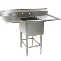 Eagle Group FN2016-1-18-14/3 One 20 inch x 16 inch Bowl Stainless Steel Spec-Master Commercial Compartment Sink with Two 18 inch Drainboards